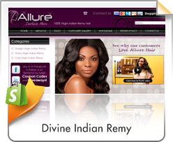Shopify, Allure Indian Hair