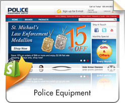 Shopify, Police Equipment Depot