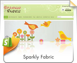 Shopify, Sparkly Fabric