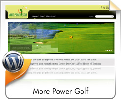 Wordpress, More Power Golf